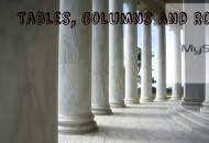 Tables, Columns and Rows